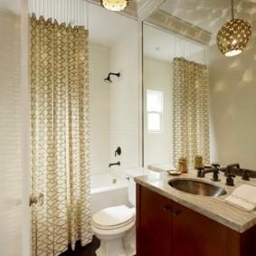как выбрать шторы для ванной декор фото