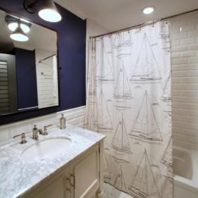 как выбрать шторы для ванной фото интерьер