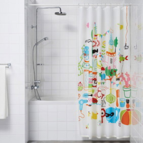 как выбрать шторы для ванной идеи декор