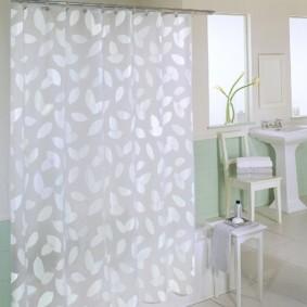 как выбрать шторы для ванной интерьер фото