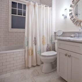 как выбрать шторы для ванной оформление фото
