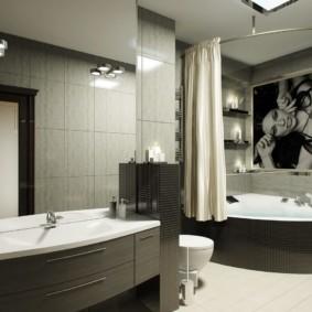 как выбрать шторы для ванной оформление идеи