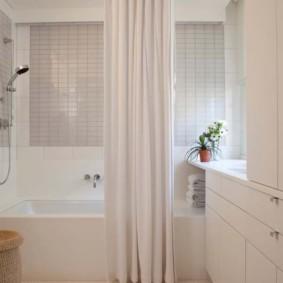 как выбрать шторы для ванной фото декор