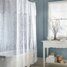 как выбрать шторы для ванной фото декора