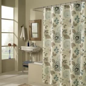 как выбрать шторы для ванной интерьер