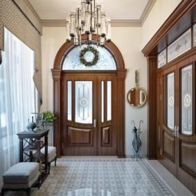 шторы в прихожей в частном доме декор