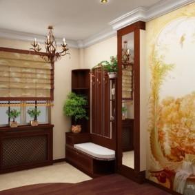 шторы в прихожей в частном доме декор идеи