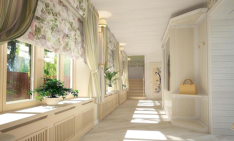 шторы в прихожей в частном доме фото оформление
