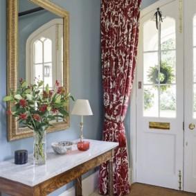 шторы в прихожей в частном доме идеи интерьера