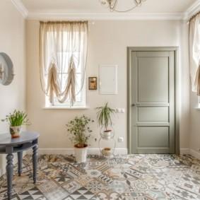 шторы в прихожей в частном доме виды фото