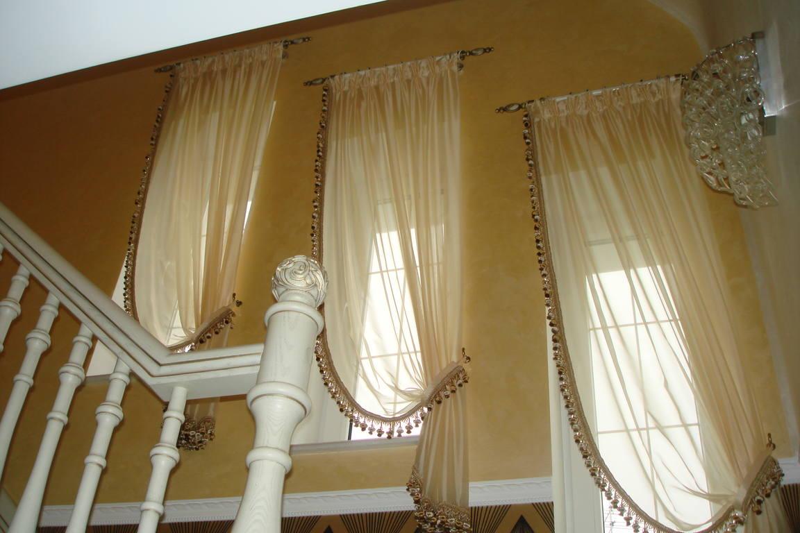 Сшить кухонные шторы фото