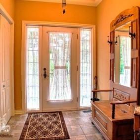 шторы в прихожей в частном доме фото декор