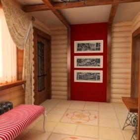 шторы в прихожей в частном доме фото дизайн