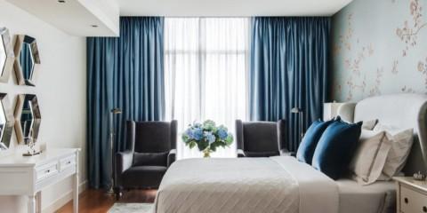 шторы для спальни 2019 варианты