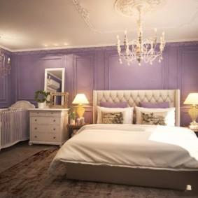 сиреневая спальня фото дизайна