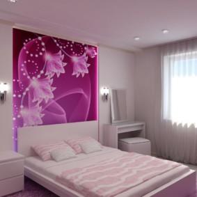 сиреневая спальня фото идеи