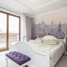 сиреневая спальня фото интерьера