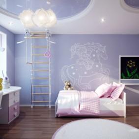 сиреневая спальня фото оформление