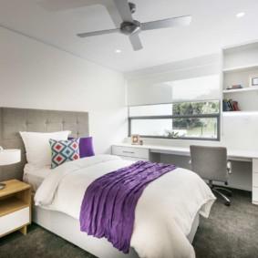 сиреневая спальня идеи декор