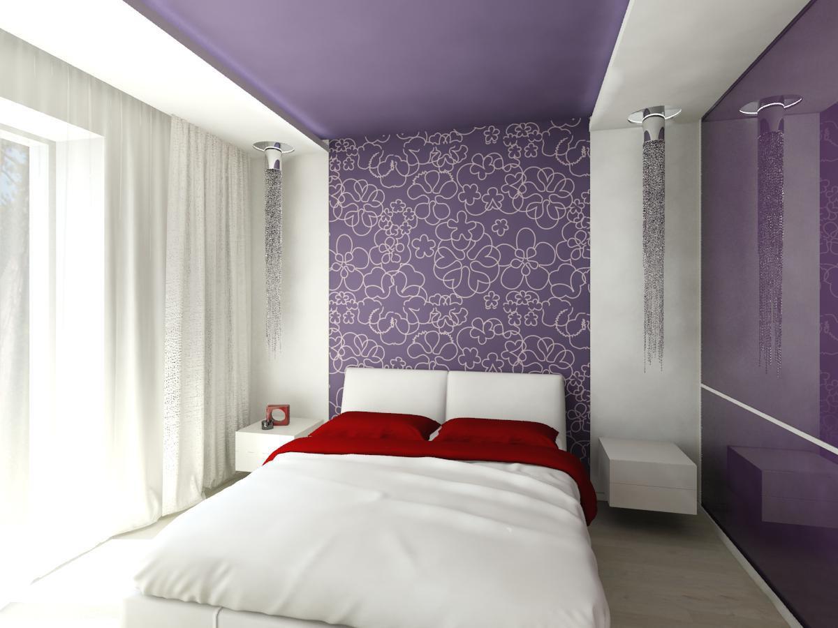 обрезание сиреневые обои в спальне дизайн фото чего сделать наконечник