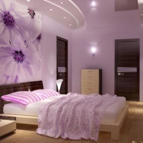 сиреневая спальня идеи интерьера