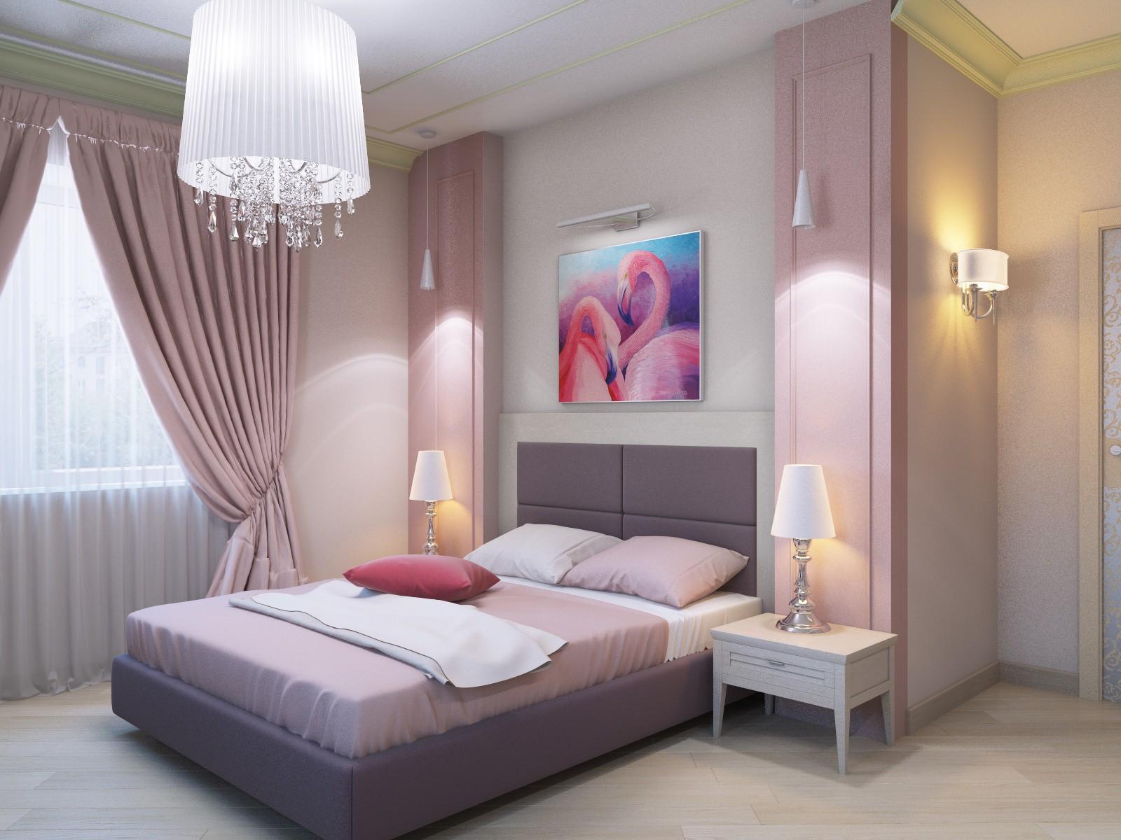 сиреневая спальня идеи оформления