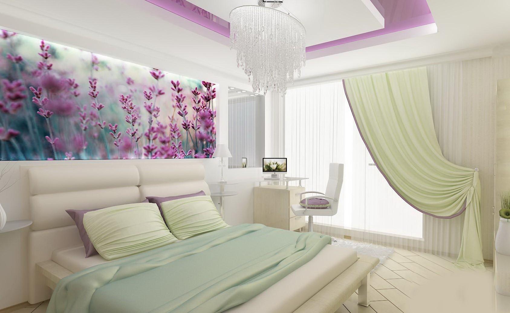 сиреневая спальня варианты фото