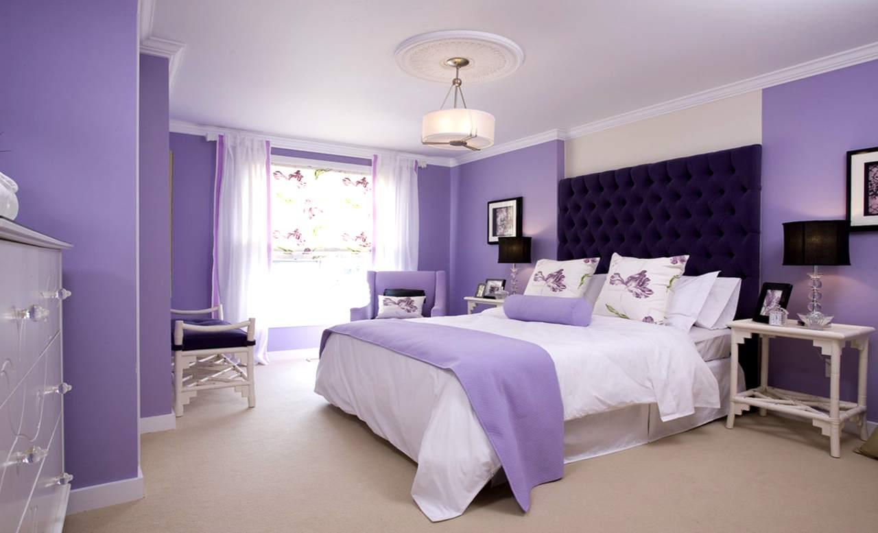 сиреневая спальня варианты