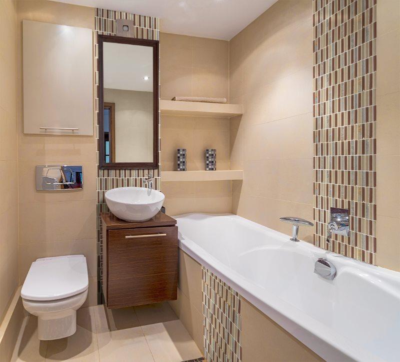 Дизайн ванной в хрущевке после совмещения с туалетом