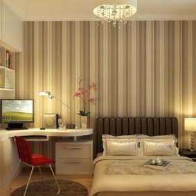 современная спальня 12 кв. м.