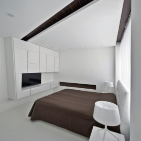спальня в стиле минимализм современная