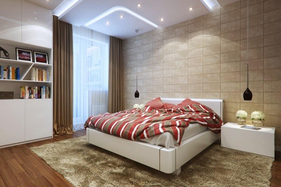 спальня в стиле модерн дизайн