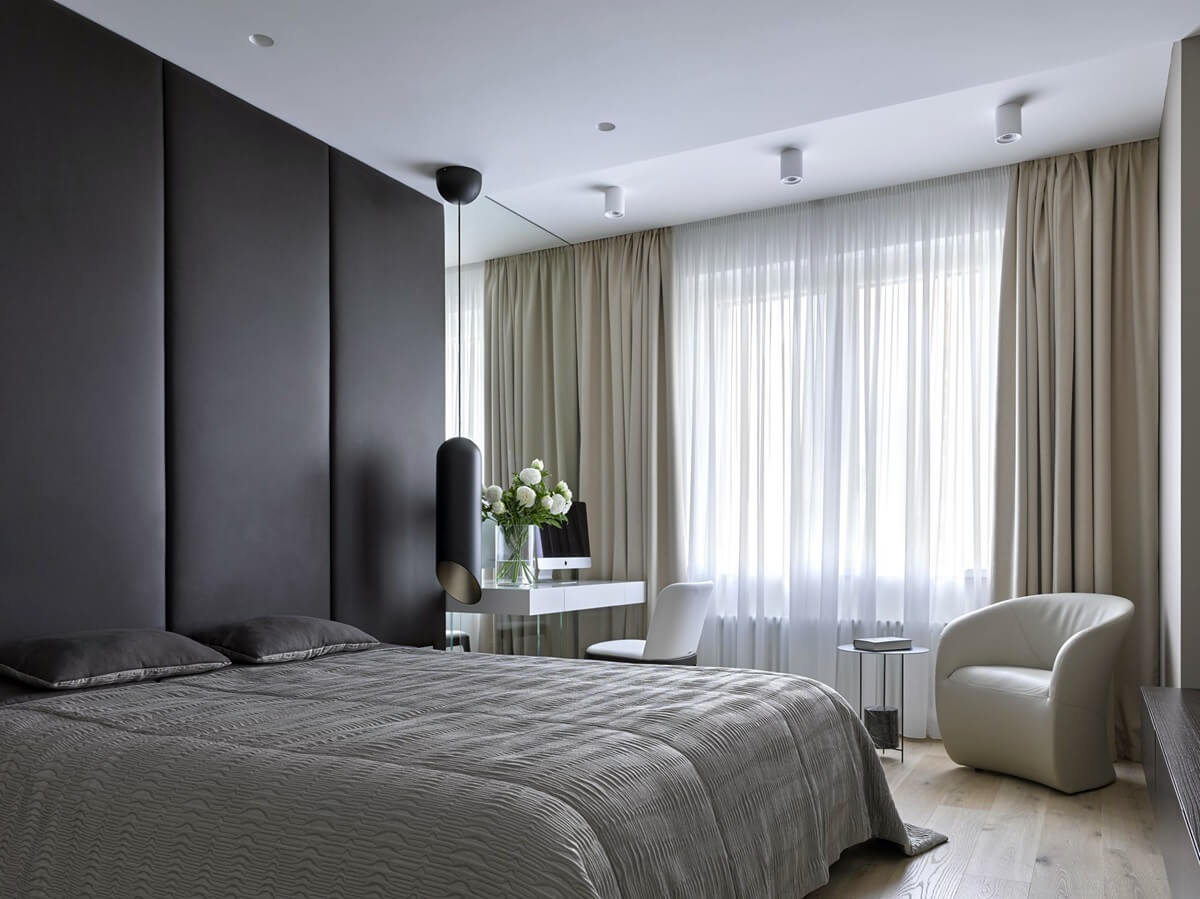спальня в стиле хай тек отделка потолка