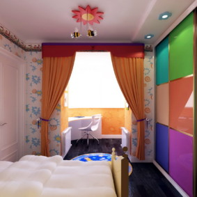 спальня 12 кв. м. декор