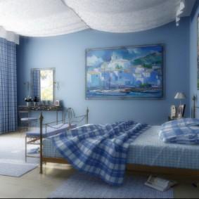 спальня 12 кв. м. фото интерьер