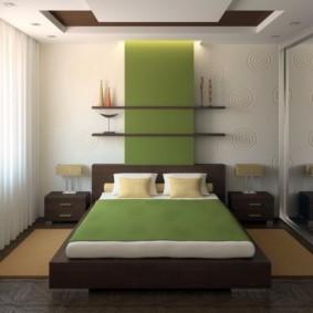 спальня 12 кв. м. интерьер