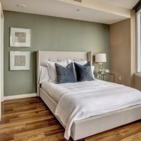 спальня 12 кв. м. современный дизайн