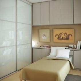 спальня 7 кв м декор фото