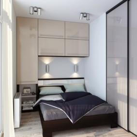 спальня 7 кв м фото интерьера