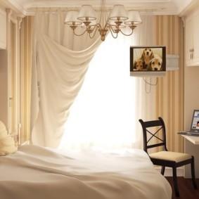 спальня 7 кв м идеи интерьер