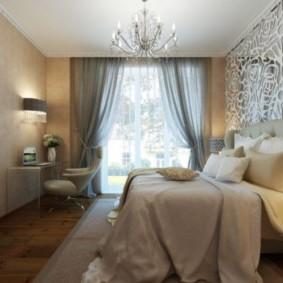 спальня в стиле арт деко интерьер