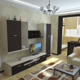 спальня гостиная 17 кв м дизайн фото