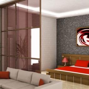 спальня гостиная 17 кв м фото декора