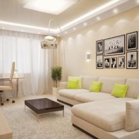 спальня гостиная 17 кв м фото дизайн