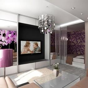 спальня гостиная 17 кв м фото интерьер