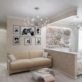 спальня гостиная 17 кв м идеи декор