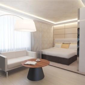 спальня гостиная 17 кв м идеи декора