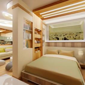 спальня гостиная 17 кв м идеи дизайн