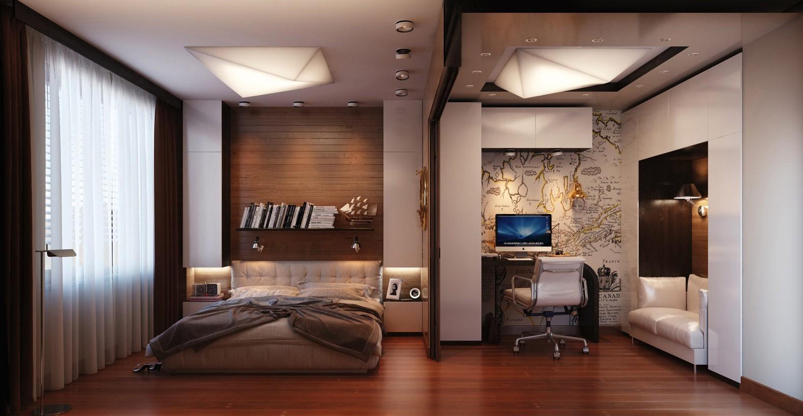 спальня гостиная 17 кв м идеи фото
