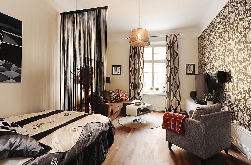 спальня гостиная 17 кв м идеи интерьера